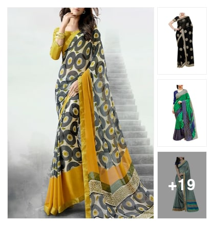 nice sarees. Online shopping look by janshi