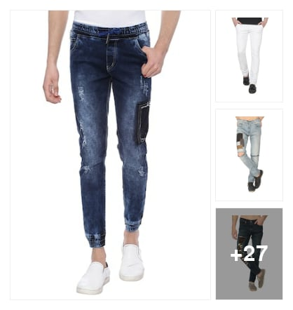 Stylish jeans for men. Online shopping look by jyoti