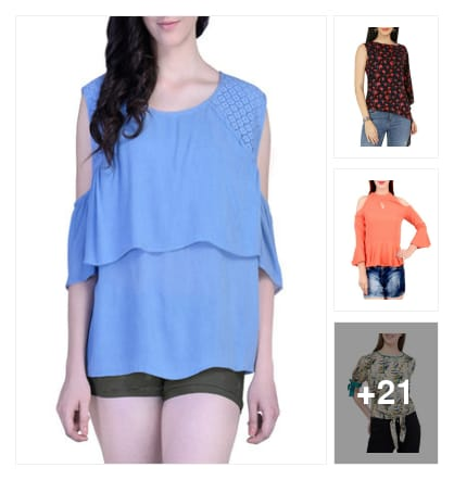 wow nice looking tops. Online shopping look by janshi