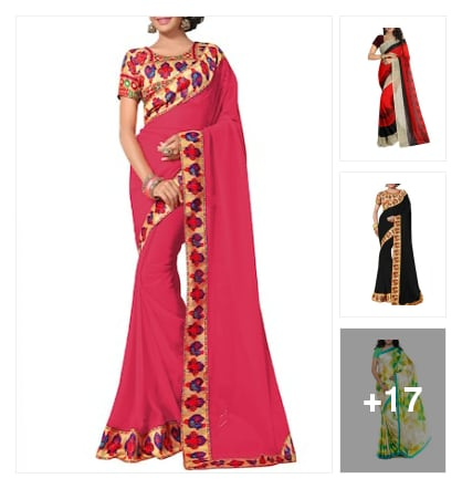 # superb collection of  georgette sarees. Online shopping look by Kriti