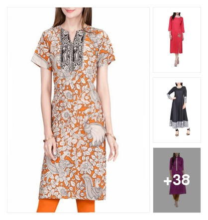 Long Kurtas & Kurtis for Girls. Online shopping look by Sai