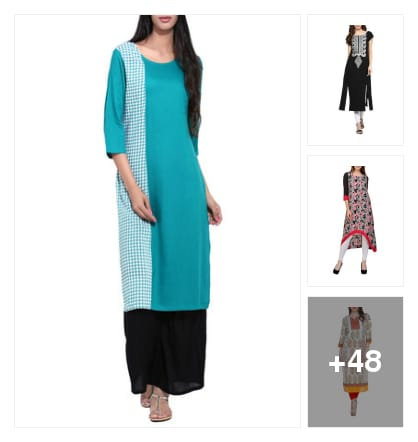 Festive kurta and kurti. Online shopping look by sapna