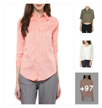 Workwear and casual shirts. Online shopping look by sapna