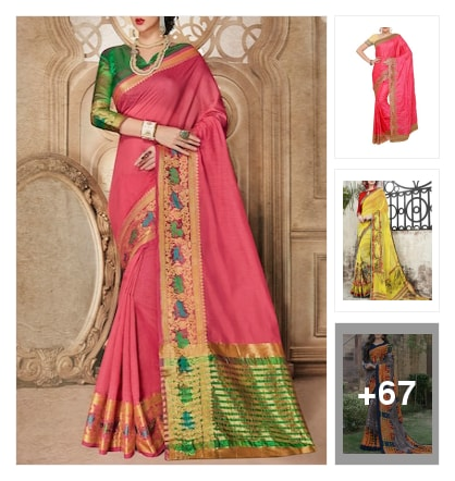 COLORFUL SAREES. Online shopping look by vihaan