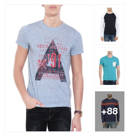 SUPREME BLUE TEES FOR MEN. Online shopping look by vihaan