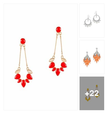 #earrings. Online shopping look by palli