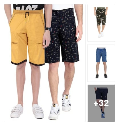 Shorts for men. Online shopping look by vihaan