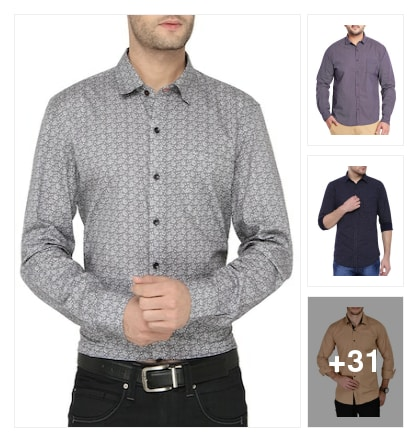 Shirts for men. Online shopping look by veda