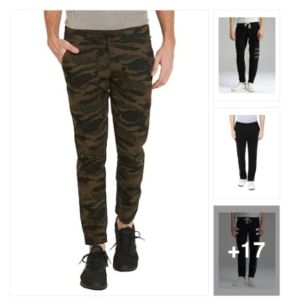 track pants. Online shopping look by india