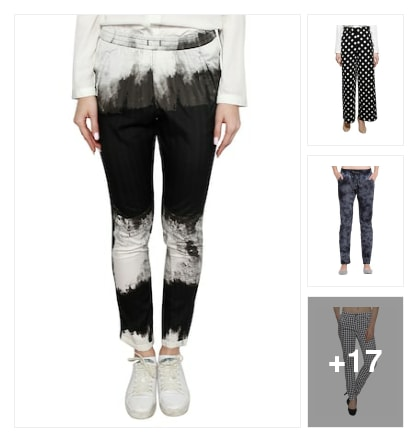 Different patterns of wearing pants. Online shopping look by sapna