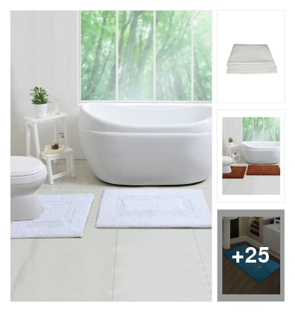 NICE BATH MATS. Online shopping look by avanthaka