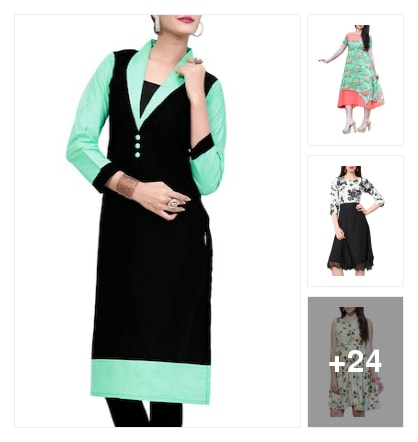 Stylish  Kurtas Collections For Ladies . Online shopping look by Sailaja