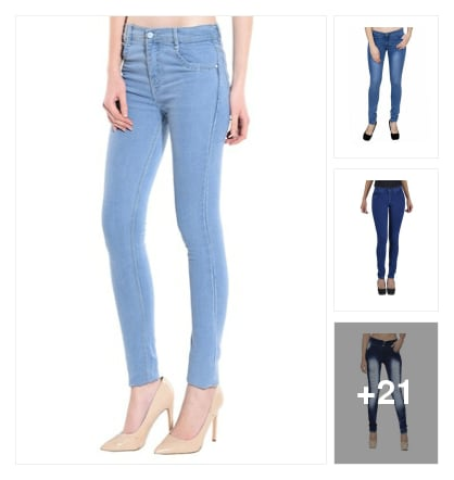 Jeans for girls. Online shopping look by priyanka