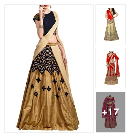 lehengas. Online shopping look by shanthi