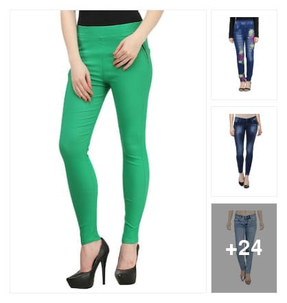 colourful jeans. Online shopping look by Subha