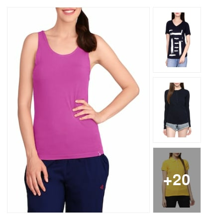 colourful tees. Online shopping look by Subha