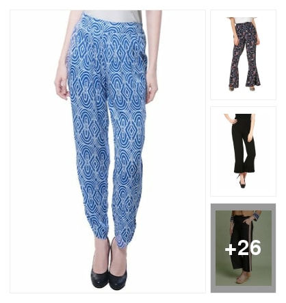 colourful trousers. Online shopping look by Subha