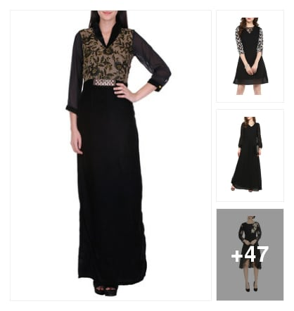 new black collection . Online shopping look by Namrata