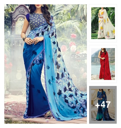 Dazzling sarees. Online shopping look by Lucky