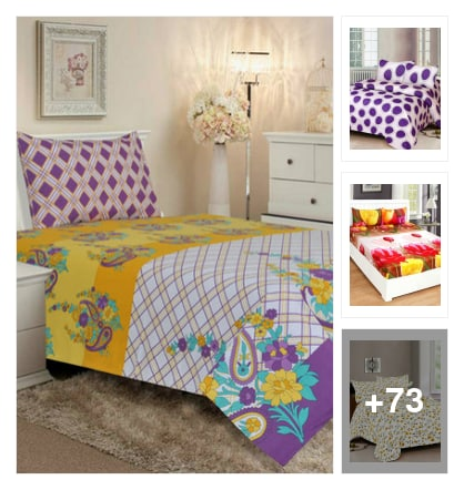 MULTICOLORED BED SHEETS. Online shopping look by narayan