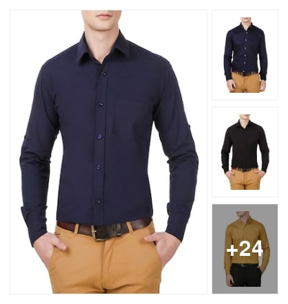 New formal shirts. Online shopping look by chinna