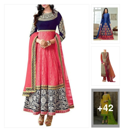 ♥♥ dress material for this festival ♥♥. Online shopping look by jayeetri
