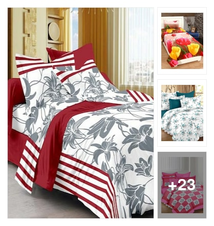 Wonderful cotton bedsheets under 499 . Online shopping look by lingamdhinne