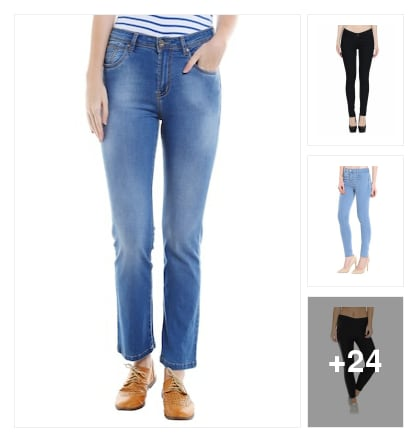 Jeans and jeggings for ladies . Online shopping look by P