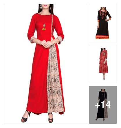 Wow Kurtas collection. Online shopping look by anitha
