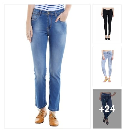 Jeans and jeggings . Online shopping look by P