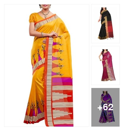 #beautiful collection of silk sarees. Online shopping look by Kriti