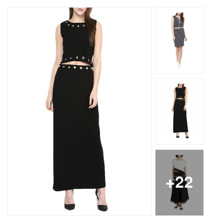 Trendy black dresses. Online shopping look by riday