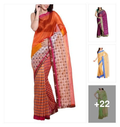 # beautiful sarees. Online shopping look by Kriti