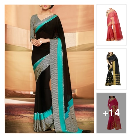 Slinky saris. Online shopping look by Harika