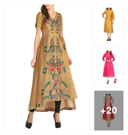 Beautiful kurtas . Online shopping look by Nilu