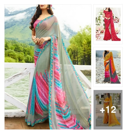 sarees . Online shopping look by cebby