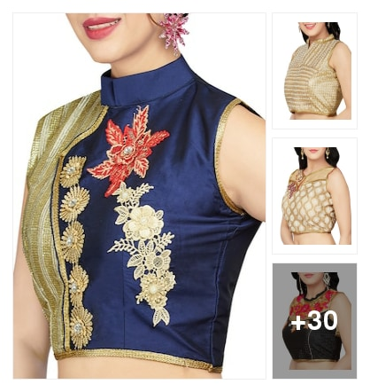 EMBELISHED BLOUSES FOR LADIES. Online shopping look by avanthaka