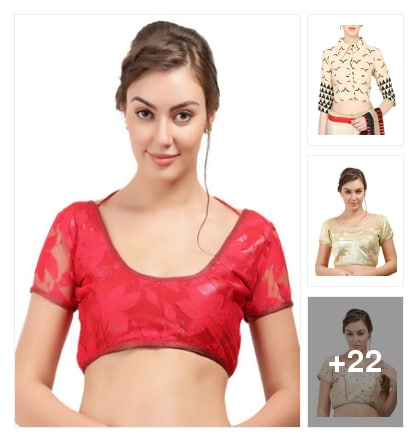 Multi colored designer blouses selected for you.... Online shopping look by lumbu