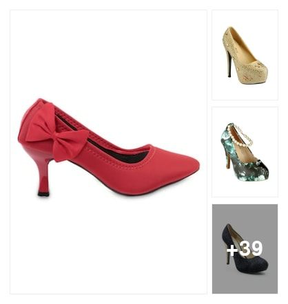Partywear pumps. Online shopping look by meenu