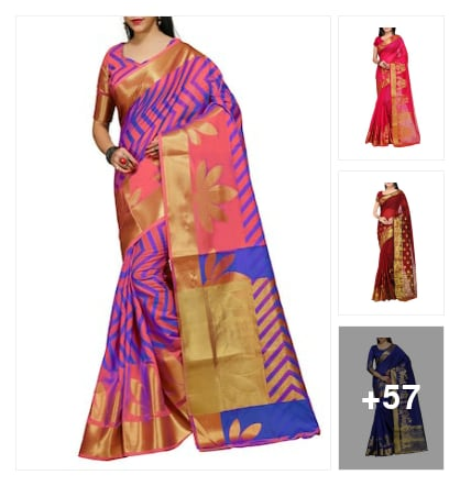 Grecy superb sarees . Online shopping look by kalpana