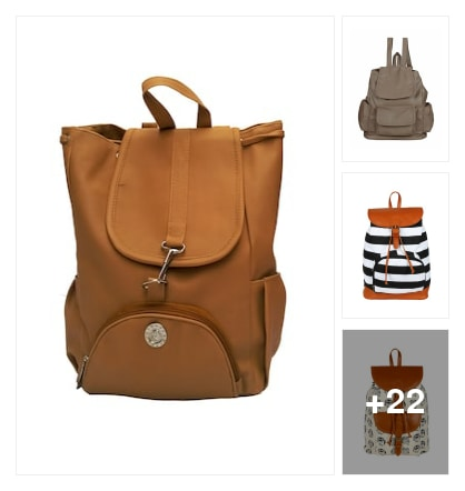 Bagpacks ready to go. Online shopping look by meenu