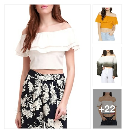 Awesome of shoulder top shop these. Online shopping look by chinni