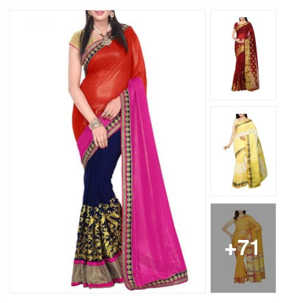 SAREES TO CELEBRATE. Online shopping look by avanthaka