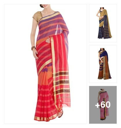poly c woven saree. Online shopping look by Reeta