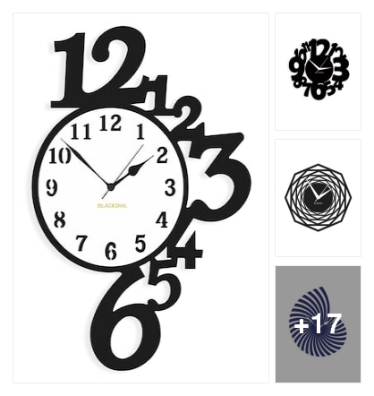 Black Dial wall clocks. Online shopping look by Priyanka
