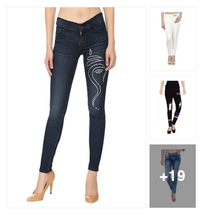 exclusive jeans. Online shopping look by mansi