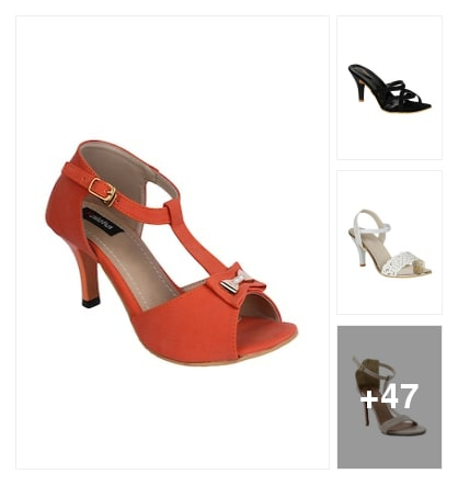 Stiletto sandals. Online shopping look by Teju