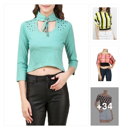Trendy crop top s. Online shopping look by Jemma