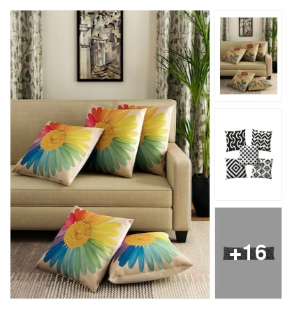 Cushions and throws. Online shopping look by keerthi