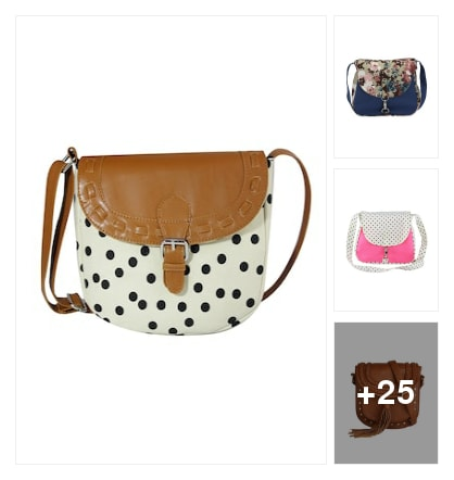 Sling bags. Online shopping look by keerthi